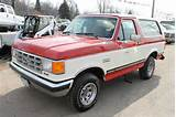 Your Vehicle Needs 1987 Ford Bronco 2dr Xlt 4wd Suv