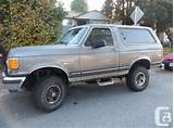 1987 Bronco 4wd Sell Or Trade For Ex Cab Pu Or Suv 4wd Surrey Green