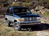 131 1103 Ford Bronco Buyers Guide 1985 Ford Bronco Front Shot Photo