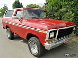 1978 Ford Bronco With H And T V Approval Off Road Vehicle Pickup