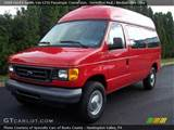 Vermillion Red 2006 Ford E Series Van E250 Passenger Conversion With