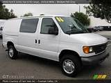 2006 Ford E Series Van E250 Cargo In Oxford White Click To See Large
