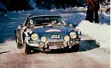 Alpine Renault A110 In Rally Front View