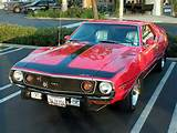 Flag Pizza Wed Cruise Nite In Progress 1972 Javelin Amx By Amc