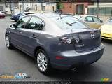 2007 Mazda Mazda3 I Sport Sedan Galaxy Gray Mica Black Photo 3