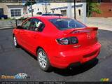 2007 Mazda Mazda3 I Sport Sedan True Red Black Photo 3