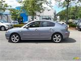 2005 Mazda Mazda3 S Sedan Titanium Gray Metallic Color Black Red