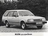 1984 Mazda 323 1500 Estate Press Photo