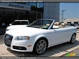 2009 Audi A4 2 0t Quattro Cabriolet In Ibis White Click To See Large