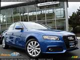2009 Audi A4 3 2 Quattro Sedan Aruba Blue Pearl Effect Light Grey