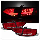 2009 2012 Audi A4 S4 Sedan Performance Led Tail Lights Red Clear