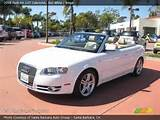 2008 Audi A4 2 0t Cabriolet In Ibis White Click To See Large Photo