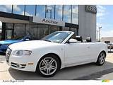 2008 A4 2 0t Quattro Cabriolet Ibis White Black Photo 1