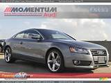 2012 Audi A5 2 0t Quattro Coupe Monsoon Gray Metallic Cinnamon Brown