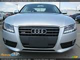 2012 Audi A5 2 0t Quattro Coupe Ice Silver Metallic Black Photo 2