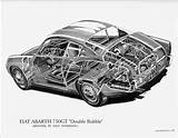 Images Fiat Abarth 750gt Cutaway By Shin Yoshikawa 76210525 Std