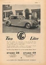 Ac 2 Litre Advert The Motor 1949