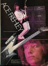 Hit Parader July 1986ace Frehley Guitar Advert Kiss