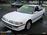 1993 Acura Integra Ls Sedan Frost White Blue Photo 1