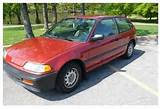 Buy Used 1989 Honda Civic Dx Hatchback 3 Door 1 5l In Towson Maryland