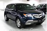 Image Of A Blue 2009 Acura Mdx Technology Entertainment Package