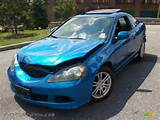 2006 Rsx Sports Coupe Vivid Blue Pearl Ebony Photo 1