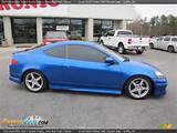 Vivid Blue Pearl 2005 Acura Rsx Type S Sports Coupe Photo 8