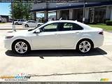 2011 Acura Tsx V6 Sedan Premium White Pearl Taupe Photo 3