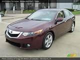 2010 Acura Tsx Sedan In Basque Red Pearl Click To See Large Photo
