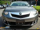 2009 Acura Tsx Sedan Polished Metal Metallic Ebony Photo 2