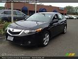 2009 Acura Tsx Sedan In Crystal Black Pearl Click To See Large Photo