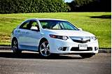 2012 Acura Tsx 5 Speed Automatic With Technology Package White Sedan