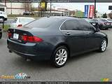 2006 Acura Tsx Sedan Carbon Gray Pearl Ebony Black Photo 6