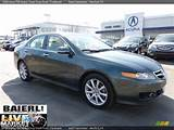2006 Acura Tsx Sedan Deep Green Pearl Parchment Photo 1