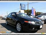 2006 Acura Tsx Sedan Nighthawk Black Pearl Parchment Photo 1