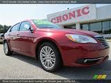 Red Crystal Pearl 2013 Chrysler 200 Limited Sedan With Black Interior