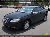 2011 Chrysler 200 Limited Convertible In Brilliant Black Crystal Pearl